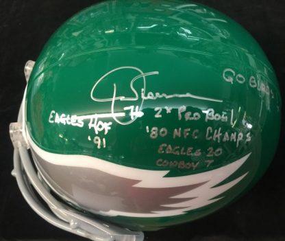 Philadelphia Eagles Jerry Sisemore Autographed Full Size Helmet