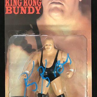 WWF King Kong Bundy Autographed Legends of Wrestling Figure