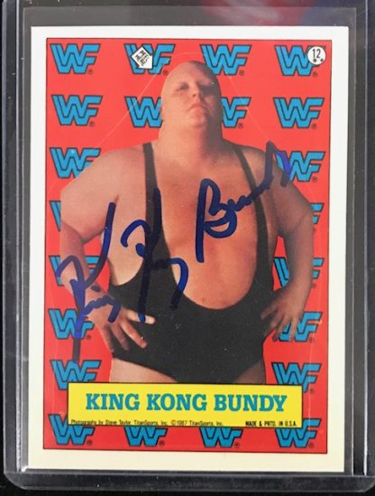WWF King Kong Bundy Autographed Card