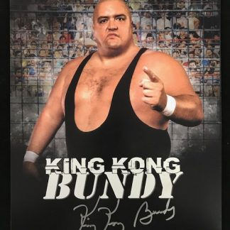 WWF King Kong Bundy Autographed 11x14