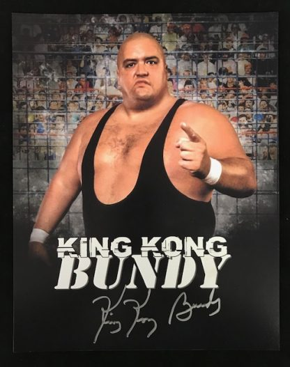 WWF King Kong Bundy Autographed 11x14