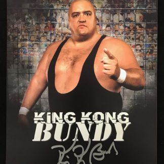 WWF King Kong Bundy Autographed 8x10