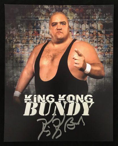 WWF King Kong Bundy Autographed 8x10