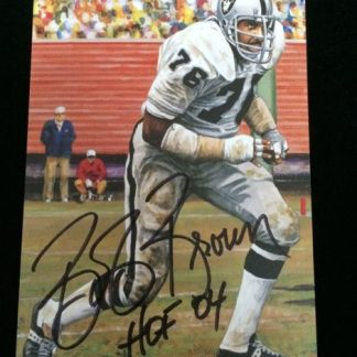 Oakland Raiders Bob Brown Autographed Photo Card