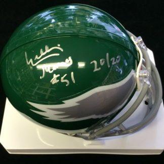 Philadelphia Eagles William Thomas Autpgraphed Mini Helmet