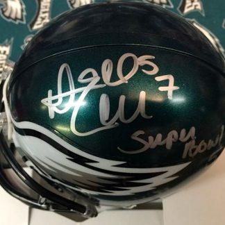 Philadelphia Eagles Dannell Ellerbe Autographed Mini Helmet
