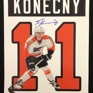 Philadelphia Flyers Travis Konecny Autographed 8x10 Photo