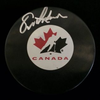 Team Canada Eric Lindros Autographed Puck