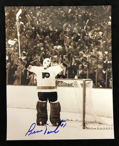 Philadelphia Flyers Bernie Parent Autographed 8x110 Photo