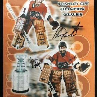 Philadelphia Flyers Bernie Parent and Wayne Stephenson Autographed 8x10 Photo