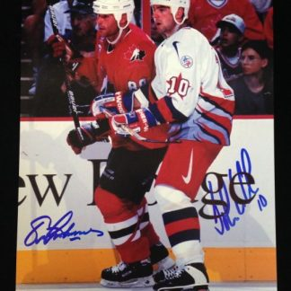 Team Canada/Team USA John LeClair & Eric Lindros Autographed Photo