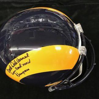Saint Louis Rams Dick Vermeil Autographed Full Size Helemt