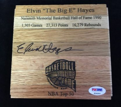 Baltimore Bullets Elvin Hayes Autographed Floor Board