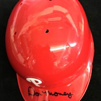 Philadelphia Phillies Don Money Autographed Mini Batting Helmet
