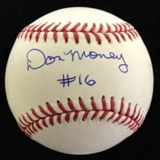 Philadelphia Phillies Don Money Autographed Baseball