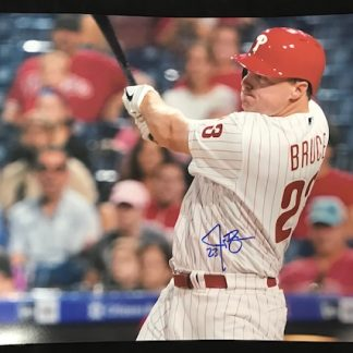 Philadelphia Phillies Jay Bruce Autographed 16 x 20