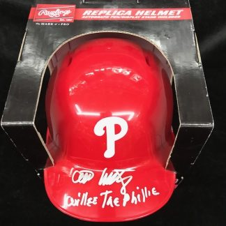 Philadelphia Phillies Willie Montanez Autographed Batting Helmet
