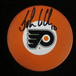 Philadelphia Flyers John LeClair Autographed Puck