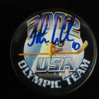 USA Olympian John LeClair Autographed Puck