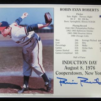 Philadelphia Phillies Robin Roberts Autographed Photo