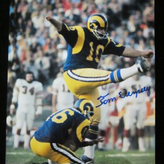 Los Angeles Rams Tom Dempsey Autographed Photo
