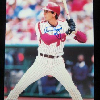 Philadelphia Phillies Von Hayes Autographed Photo