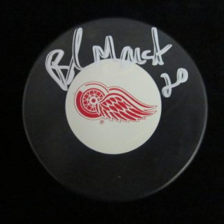 Detriot Red Wings Brad Marsh Autographed Puck