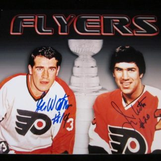 Philadelphia Flyers Jim and Joe Watson Autographed Photo