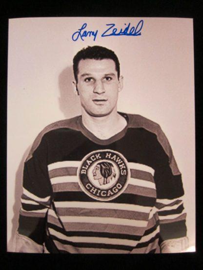 Chicago Blackhawks Larry Zeidel Autographed Photo