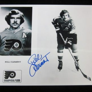 Philadelphia Flyers Bill Clement Autographed Photo