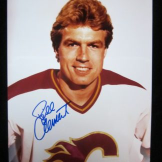 Calgary Flames Bill Clement Autographed Photo