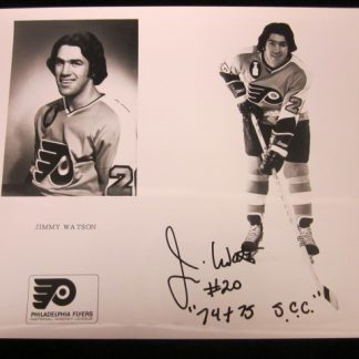 Philadelphia Flyers Jim Watson Autographed Photo