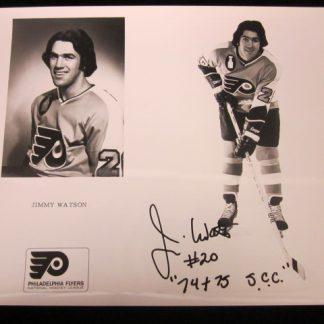 Philadelphia Flyers Jim Watson Autographed Photo