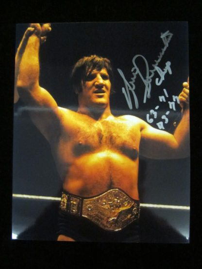 WWF Champion Bruno Sammartino Autographed Photo