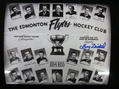 Edmonton Flyers Larry Zeidel Autographed Photo