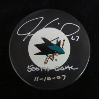 San Jose Sharks Jeremy Roenick Autographed Puck