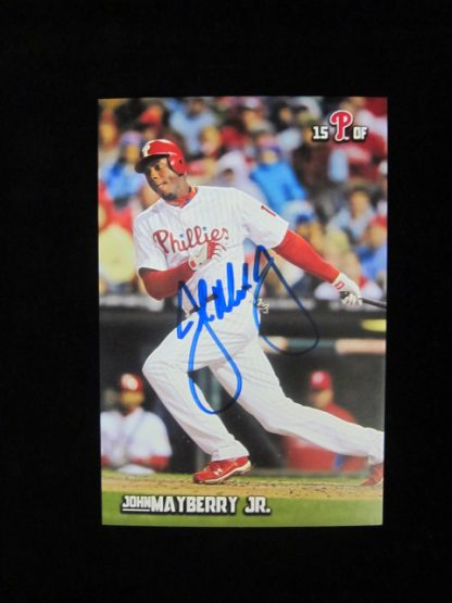 Philadelphia Phillies John Mayberry Jr. Autographed Postcard