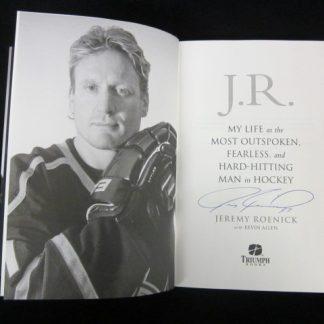 Philadelphia Flyers Jeremy Roenick Autographed Book