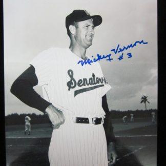 Washington Senators Mickey Vernon Autographed Photo