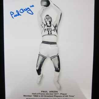 Philadelphia 76ers Paul Arizin Autographed Photo