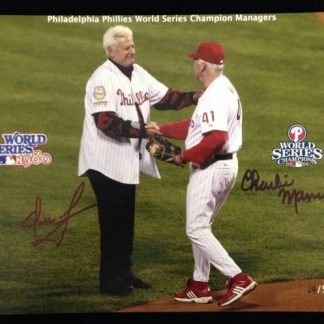 Philadelphia Phillies WSC Managers Green and Manuel Autographed Photo