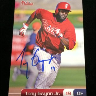 Philadelphia Phillies Tony Gwynn Jr. Autographed Photo Card