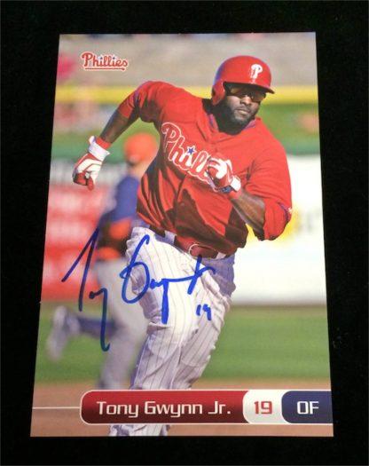 Philadelphia Phillies Tony Gwynn Jr. Autographed Photo Card