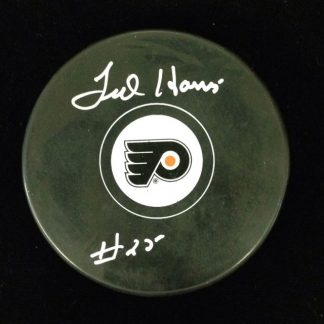 Philadelphia Flyers Ted Harris Autographed Puck