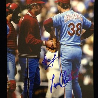 Philadelphia Phillies Dallas Green and Larry Christenson Autographed Photo