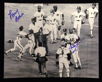Philadelphia Phillies Dallas Green and Larry Bowa Autographed Photo