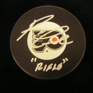Philadelpia Flyers Reggie Leach Autographed Puck