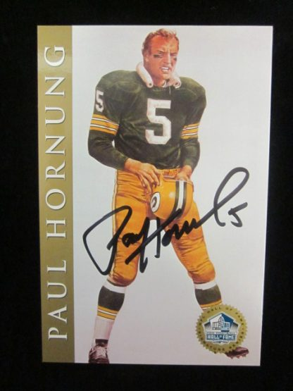 Green Bay Packers Paul Hornung Autographed Postcard