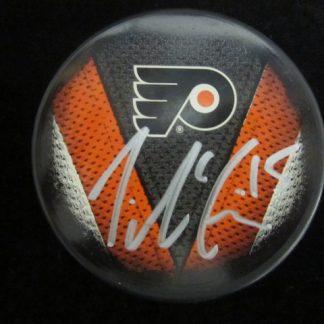 Philadelphia Flyers Tye McGinn Autographed Puck