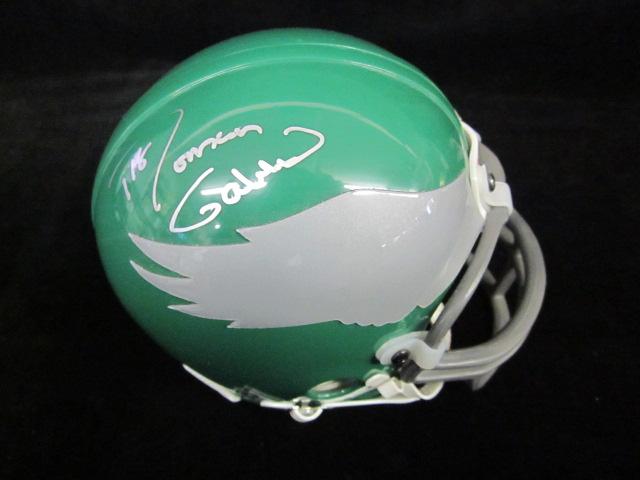COA Included Signature Roman Gabriel Philadelphia Eagles Autographed Riddell Replica Mini Helmet